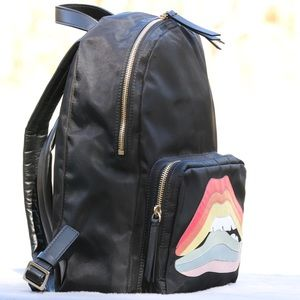 Valentino Bags - RED Valentino Rainbow Lips Nylon-Leather Backpack
